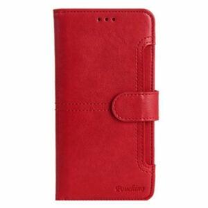 כיסוי ארנק לאייפון 13 פרו מקס אדום מגנטי מתפרק Pouchino IDEAL Magnetic