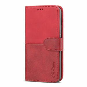 כיסוי לאייפון 13 ארנק אדום עם מקום לכרטיסי אשראי Duo Premium