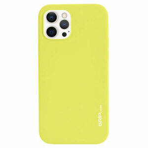 מגן לאייפון 13 פרו צהוב סיליקון עם מגנט מובנה Grip Case